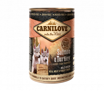 Carnilove Wild Meat Salmon & Turkey for Puppies