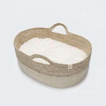 Cloud7 Dog Basket Cuddly Plush Ecru