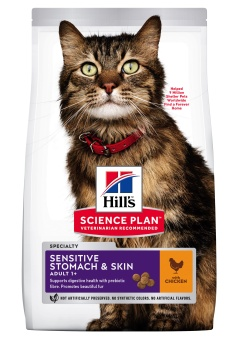 Hills SP Feline Adult Sensitive Stomach & Skin Chicken