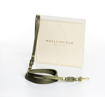 M&S Butter City Leash Olive tree