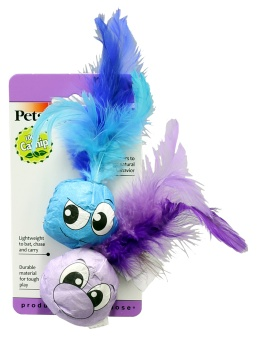Petstages Feather Balls 2-p