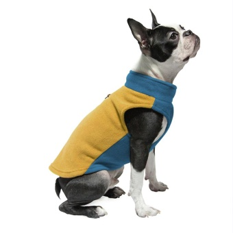 Gooby Fleece Vest Half Stretch Honey Mustard
