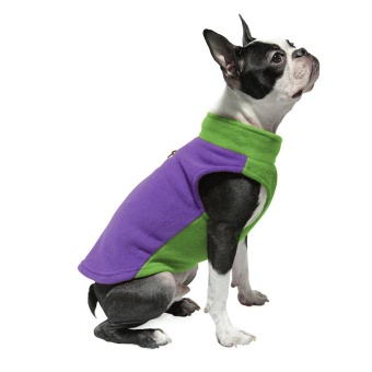 Gooby Fleece Vest Half Stretch Purple