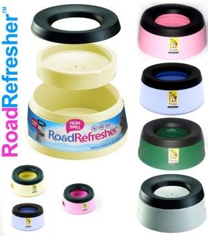Skål non-spill road refresher 0,6l rosa