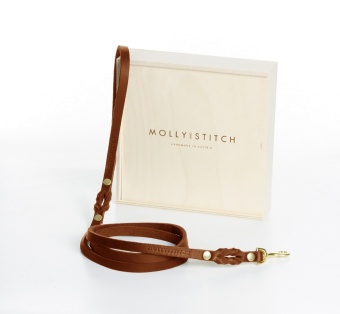 M&S Butter City Leash Sahara cognac