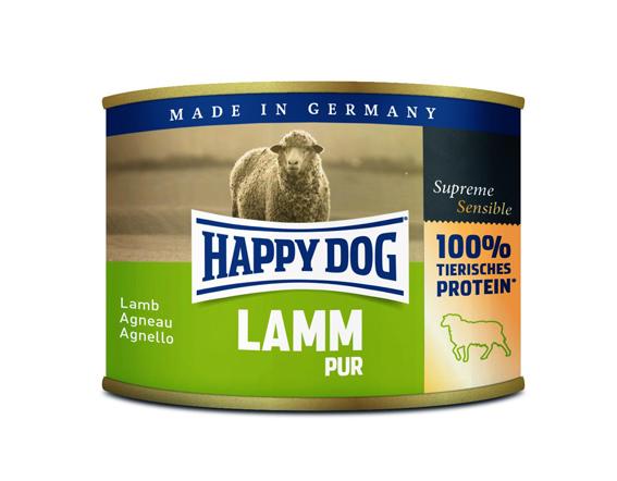 Happy Dog konserv, 100% animalisk, Lamm